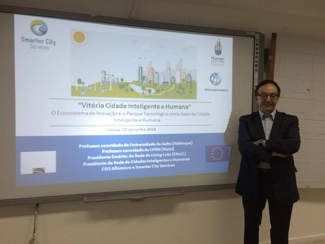 """Doctum Vitória promove a palestra """"Cidades Inteligentes e Humanas – Tecnologia a serviço da sustentabilidade"""""""