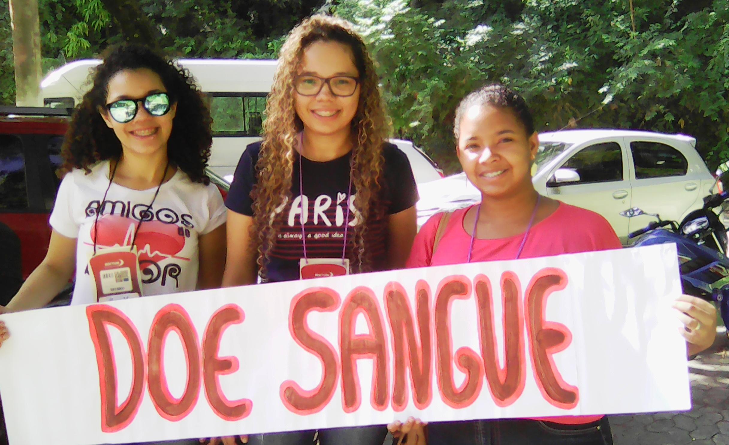 Doctum Vitória incentiva a doação de sangue no Trote Solidário 2017/1