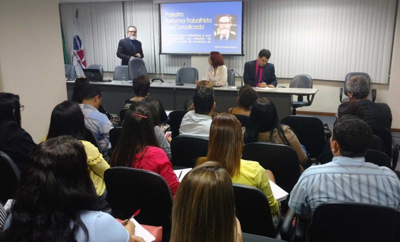 Reforma Trabalhista foi tema de palestra para alunos de Direito