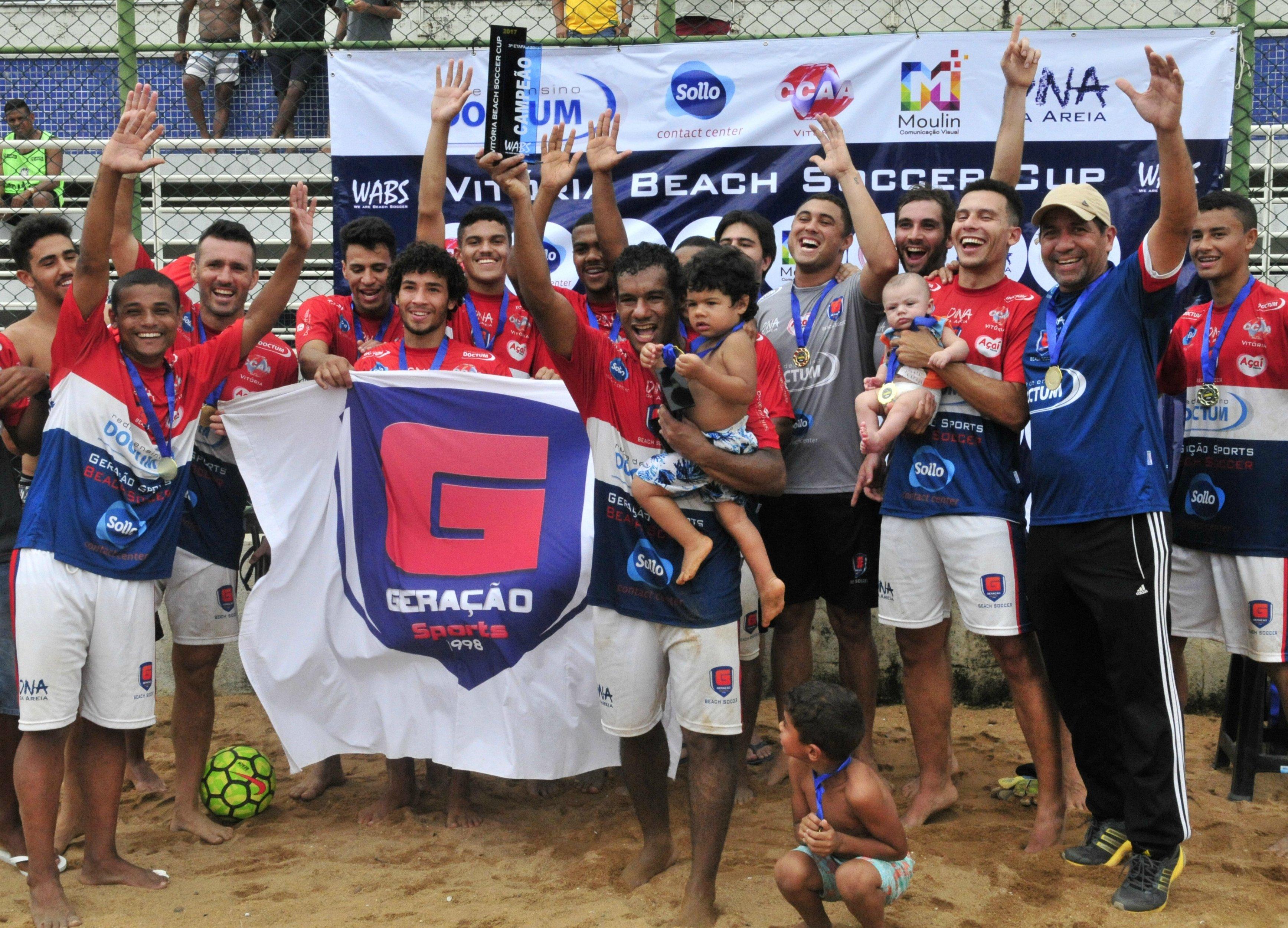 Geração/Doctum é ouro no Vitória Beach Soccer Cup