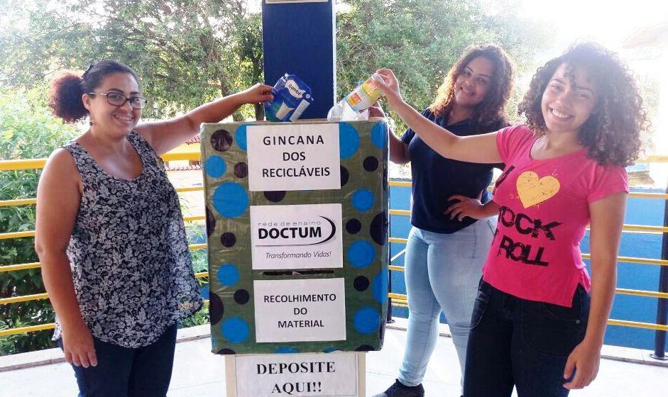 """Alunos da Doctum Vitória organizam a """"Gincana dos Recicláveis"""""""