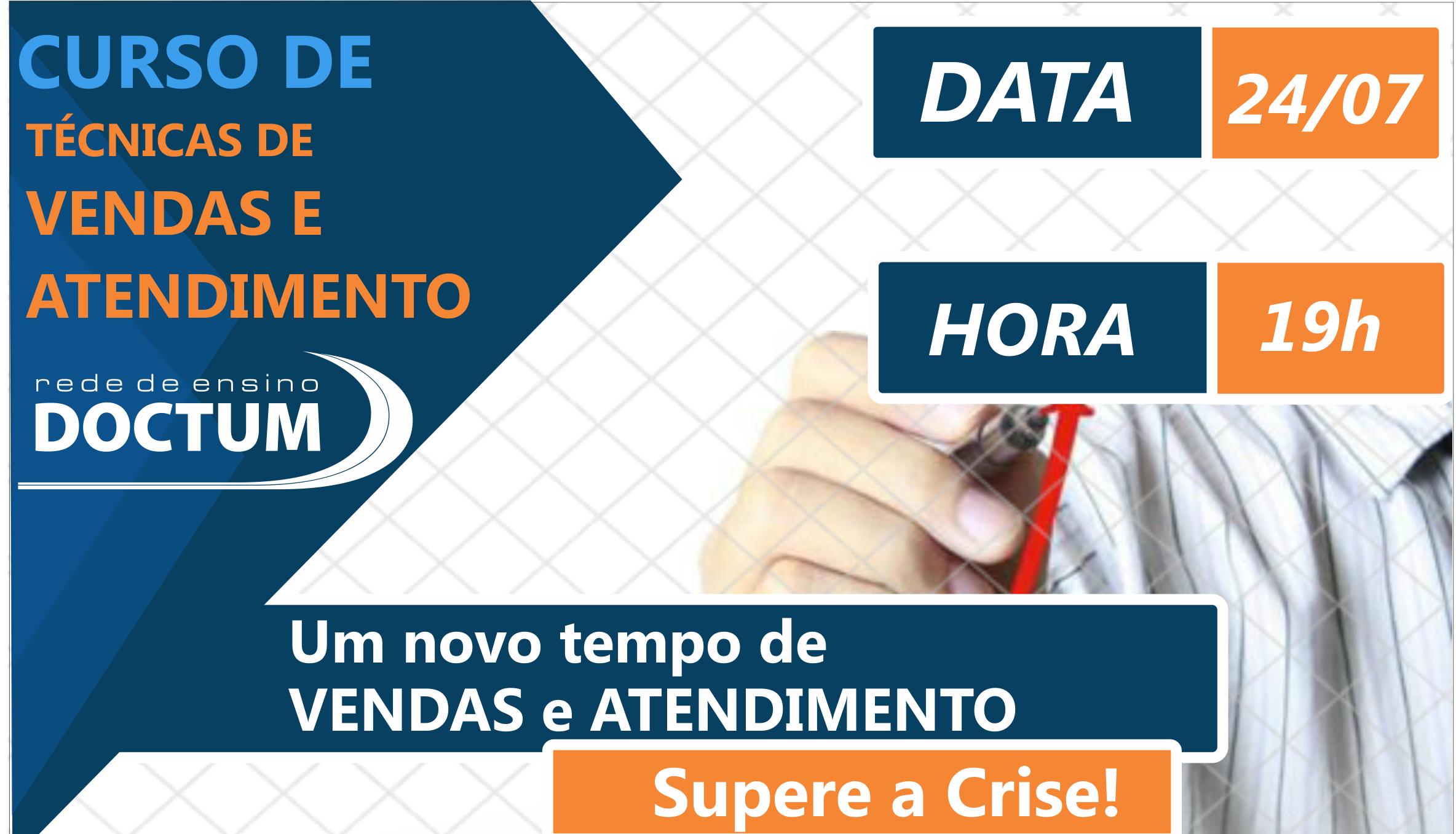 Doctum Caratinga oferece curso gratuito de Vendas e Atendimento na próxima semana