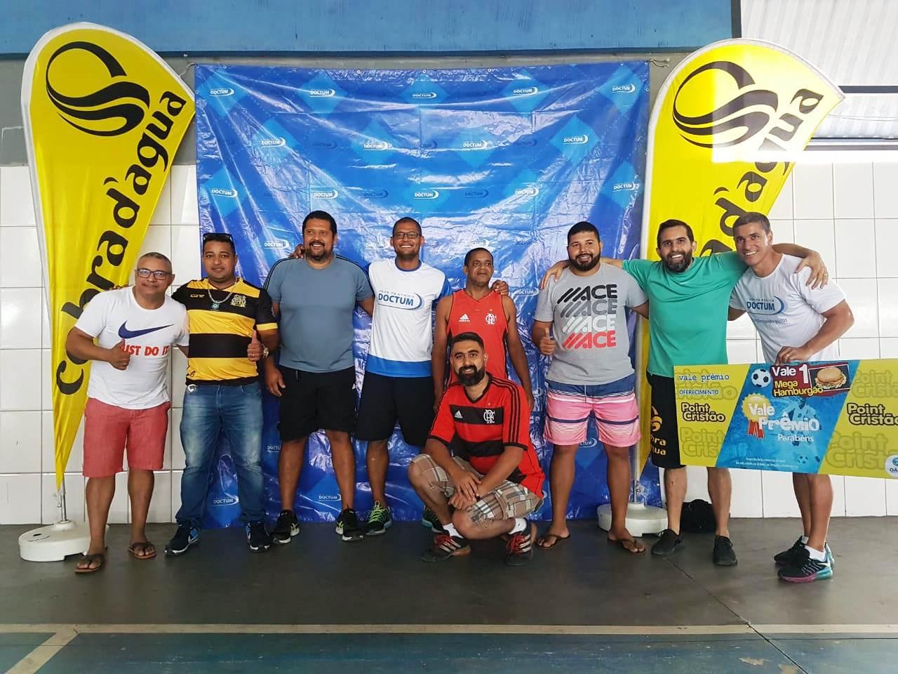Coordenador de Esportes, goleiro Mão, realiza oficina no Colégio Americano de Serra