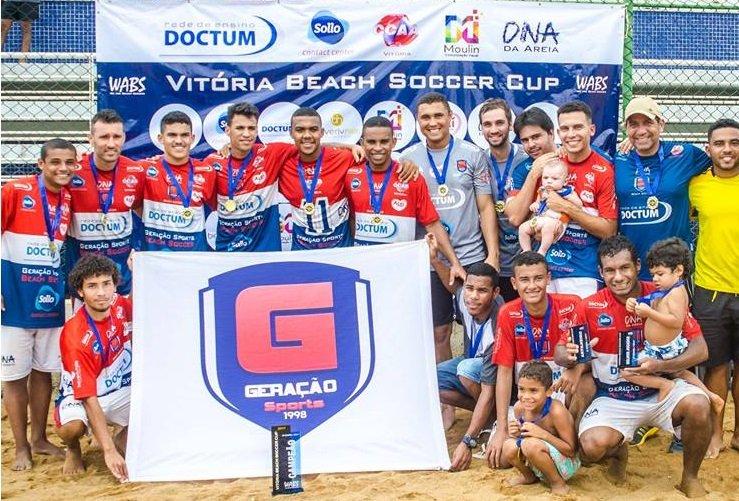 Geração/Doctum estreia no campeonato Vitória Beach Soccer Cup