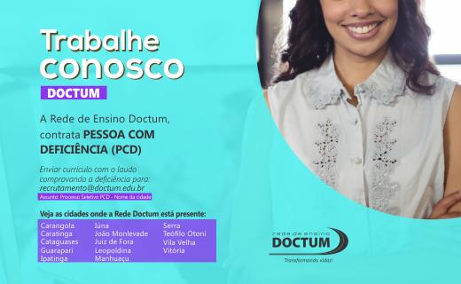 Rede Doctum está em busca de PCD para contratação