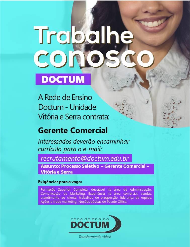 Gerente Comercial - Vitória e Serra