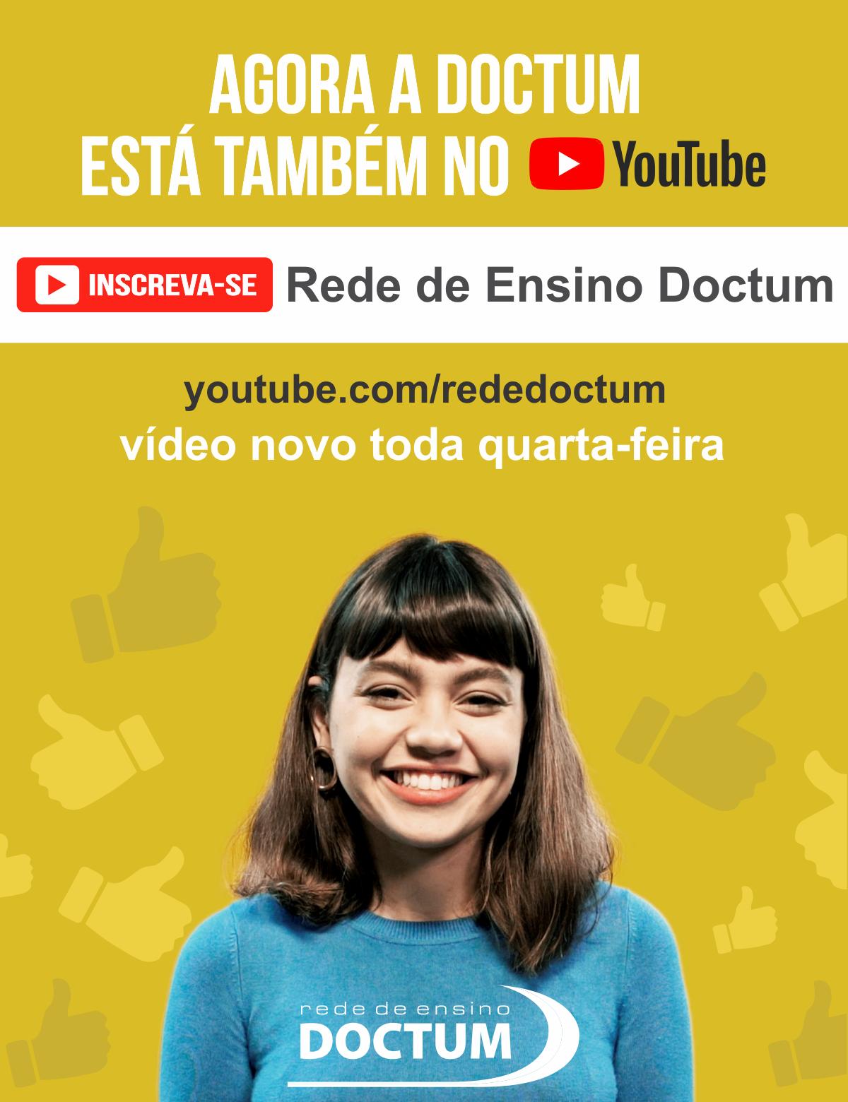Rede De Ensino Doctum Estreia Canal Na Plataforma Youtube