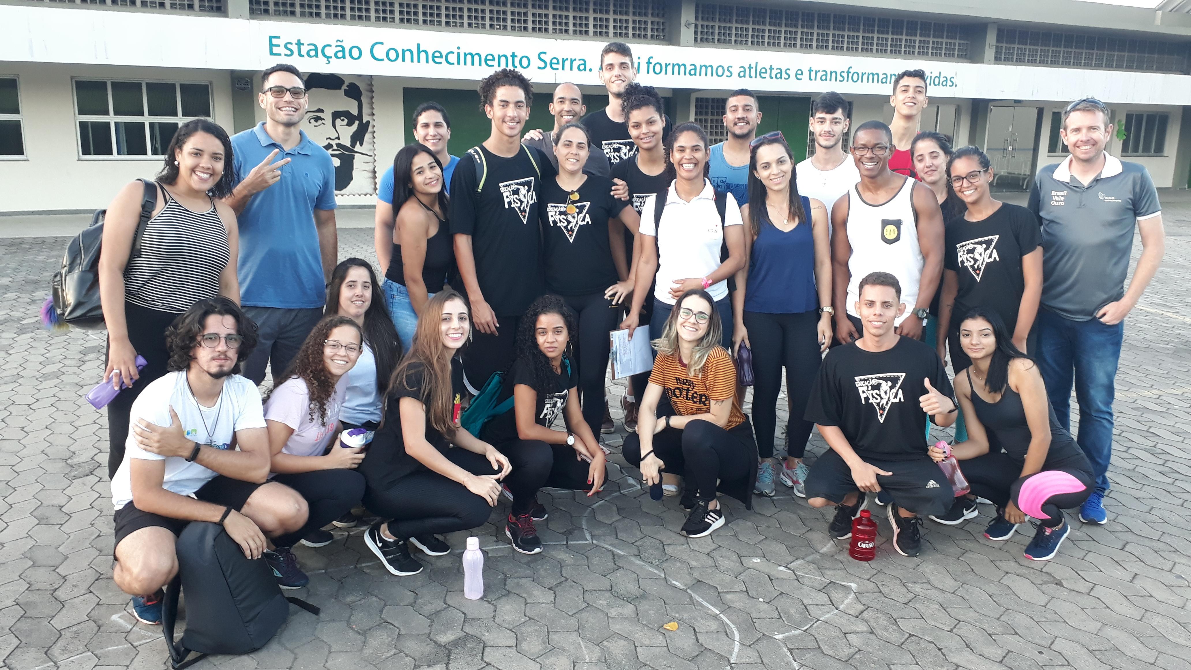 Alunos do Curso de Educação Física da Doctum de Serra visitam Estação Conhecimento
