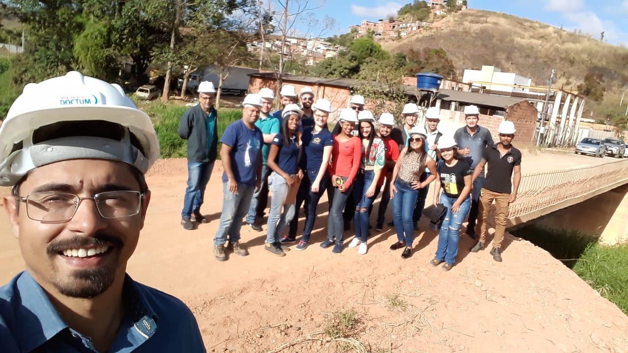Cursos de Engenharia da Doctum Caratinga desenvolvem trabalhos de campo com foco na sociedade