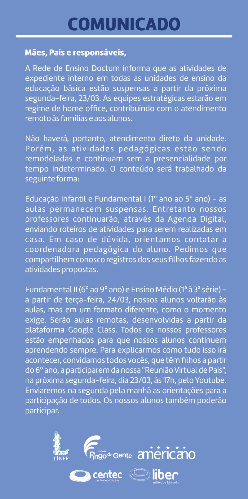 Comunicado E.Básico - e-mail MKT 20-03