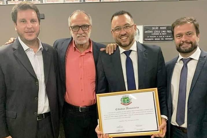 Pedro Leitão recebe Título de Cidadão Honorário de Leopoldina